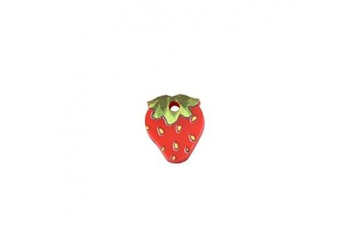 Strawberry Plexiglass Charm - 10x12mm - 2pcs