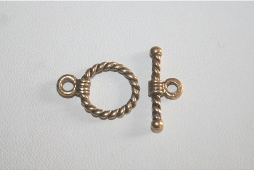 Antique Gold Tibetan Toggle Bar Clasps 19x14mm - 5pcs