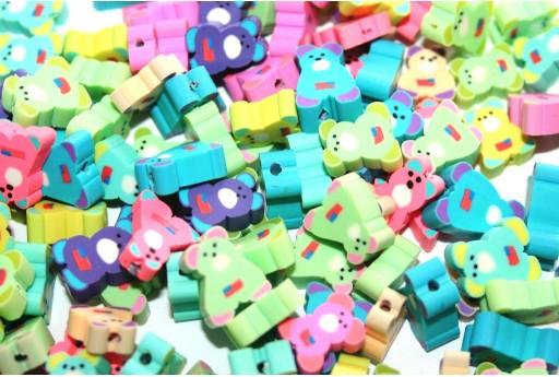 Polymer Clay Beads Baby Bear 9x12mm - 25pcs