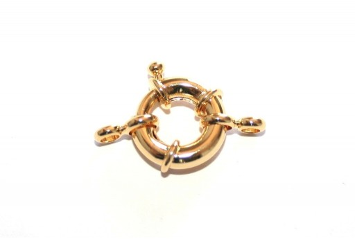 Gold Plated Spring Ring Clasp 13x5mm