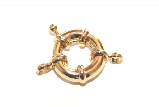 Gold Plated Spring Ring Clasp 17x6mm