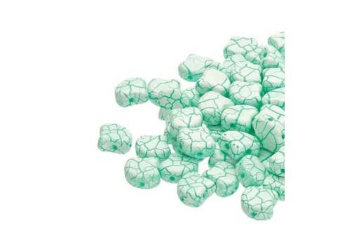 Perline Ginko - Ionic - White Green 7,5x7,5mm - 10g