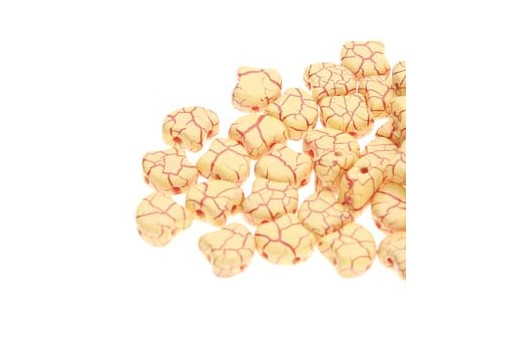 Perline Ginko - Ionic - Light Yellow Dark Red 7,5x7,5mm - 10g