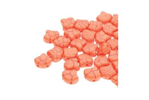 Perline Ginko - Ionic - Orange Dark Red 7,5x7,5mm - 10g