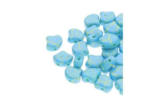 Perline Ginko - Ionic - Blue Yellow 7,5x7,5mm - 10g