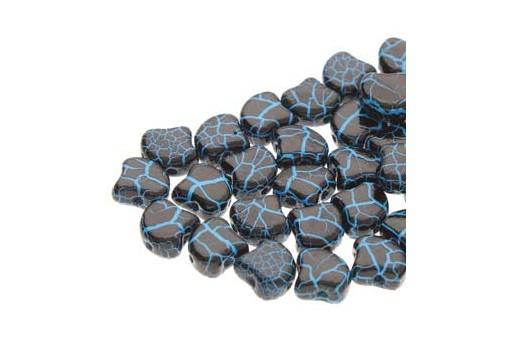 Perline Ginko - Ionic - Jet Blue 7,5x7,5mm - 10g