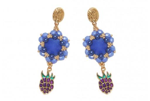 DIY Kit Earrings - Tropical Blueberry