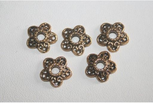 12 Coppette Argento Tibetano Colore Oro 12mm