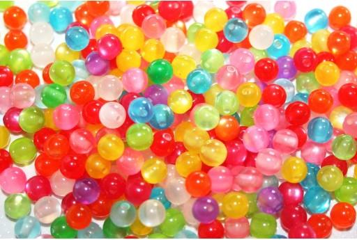 Perline in Resina Tondo - Mix Color 6mm - 150pz