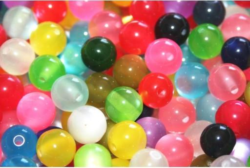 Perline in Resina Tondo - Mix Color 10mm - 60pz
