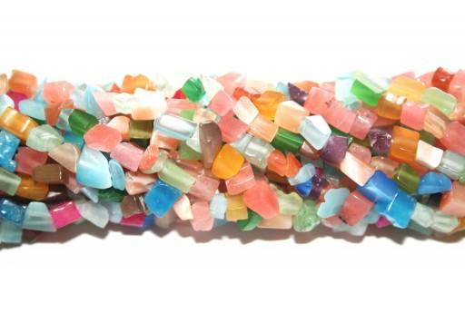 Perline Occhi di Gatto Chips - Multicolor Light 5x8mm - 220pz