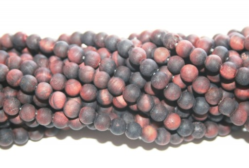 Red Tiger Eye Frosted Round Beads 4mm - 90pcs