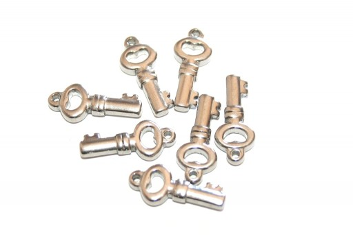 Stainless Steel Charms Key - 20x8mm - 2pcs