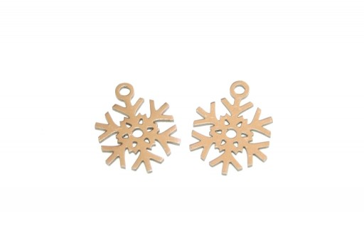 Stainless Steel Charms Snowflake - 15x11mm - 2pcs