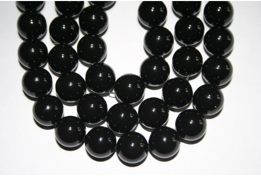 Swarovski Pearls 5810 Crystal Mystic Black 12mm - 2pcs