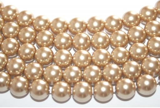 Perle Cerate Vetro Kaki 10mm - 42pz