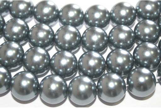 Perle Cerate Vetro Grigio Chiaro 14mm - 28pz