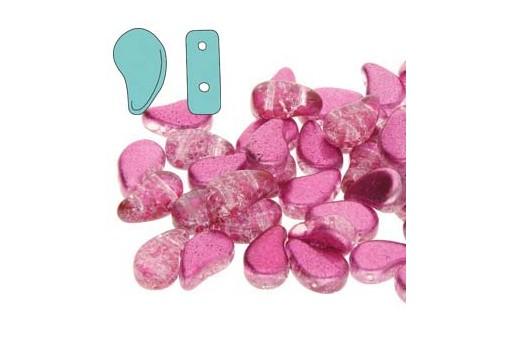 Perline Paisley Duo Slushy - Bubble Gum 8x5mm - 10gr