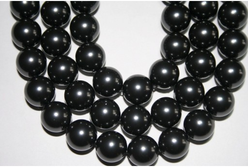 Perle Swarovski 5810 Crystal Black 12mm - 2pz