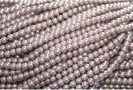 Perle Cerate Vetro - Bronzo 4mm - 108pz