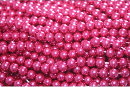 Perle Cerate Vetro - Magenta 6mm - 74pz