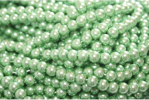 Perle Cerate Vetro - Verde Menta 6mm - 74pz