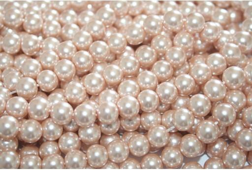 Glass Pearls Strand Powder Pink 8mm - 52pcs