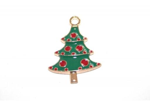 Metal Charms Christmas Tree 26x18mm - 2pcs