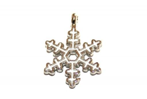Charm di Natale Fiocco di Neve 21x16mm - 2pz