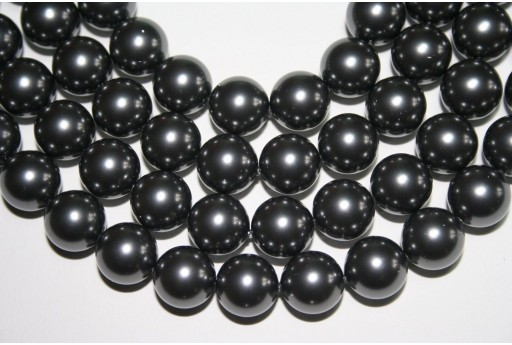 Swarovski Pearls 5810 Crystal Dark Grey 12mm - 2pcs