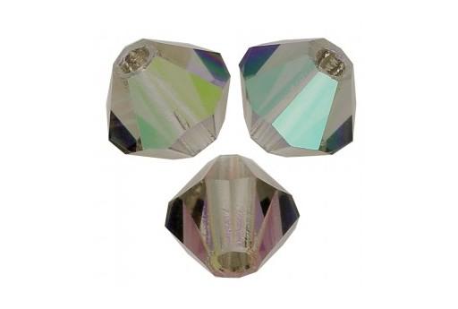 Biconi Preciosa - MC Bead Rondelle - Black Diamond AB 3mm - 30pz