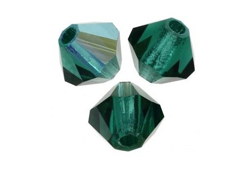 Biconi Preciosa - MC Bead Rondelle - Emerald AB 3mm - 30pz
