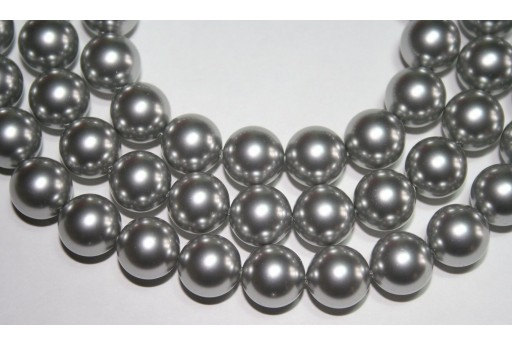 Swarovski Pearls 5810 Crystal Light Grey 12mm - 2pcs