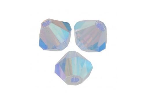 Biconi Preciosa - MC Bead Rondelle - Light Sapphire AB 2X 4mm - 30pz
