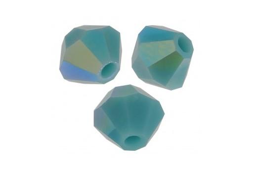 Biconi Preciosa - MC Bead Rondelle - Turquoise AB 2X 4mm - 30pz