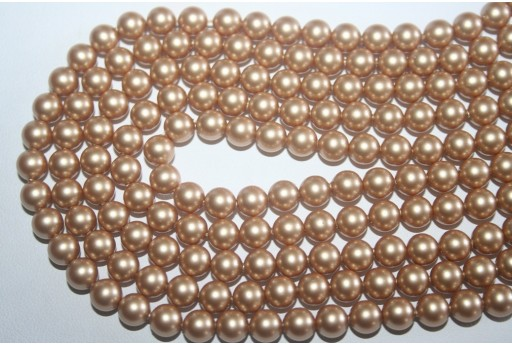 Swarovski Pearls 5810 Vintage Gold 6mm - 12pcs