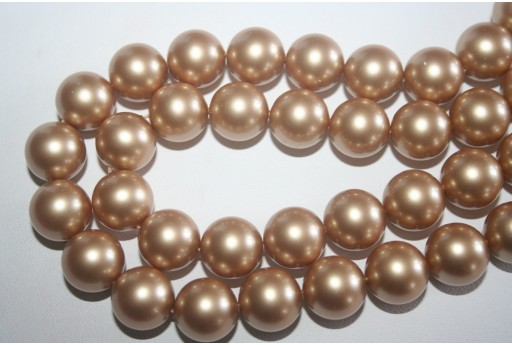 Swarovski Pearls 5810 Vintage Gold 12mm - 2pcs