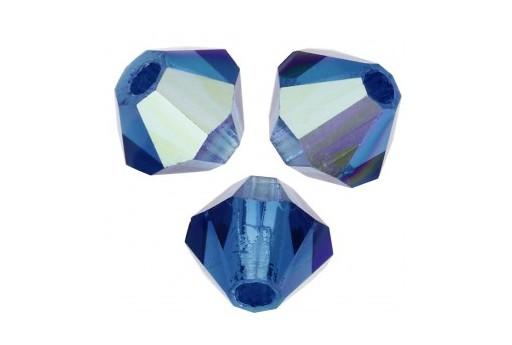 Biconi Preciosa - MC Bead Rondelle - Capri Blue AB 4mm - 30pz