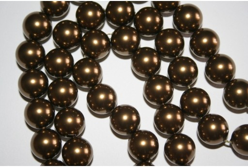 Swarovski Pearls 5810 Crystal Antique Brass 12mm - 2pcs