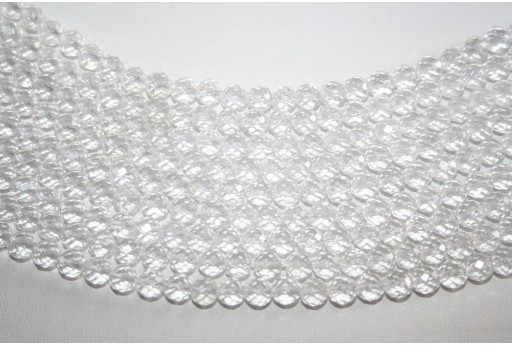 Crystal Beads Faceted Sphere 6mm - 64pz