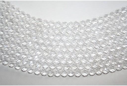 Pietre Cristallo Sfera Sfaccettata 6mm - 5pz