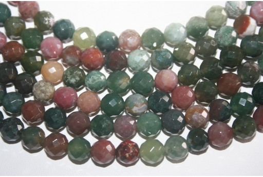 Jasper Beads Fantasy Faceted Sphere 8mm - 48pz