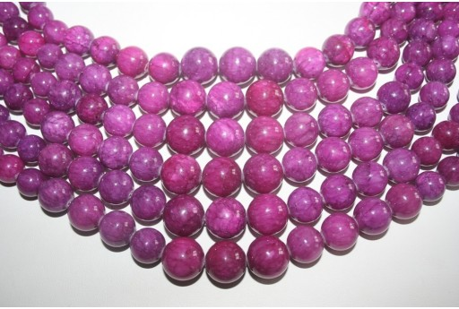 Jade Beads Violet Graded Sphere 8-16mm - 35pz