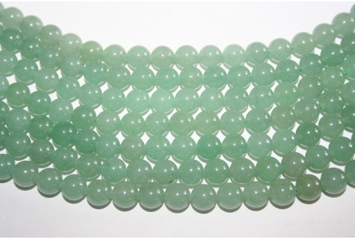 Aventurine Beads Green Sphere 8mm - 46pz