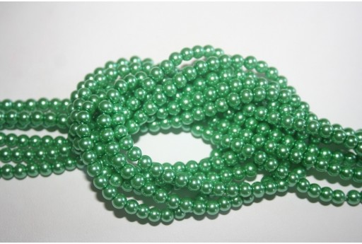 Glass Beads Aqua Green 4mm - Filo 100pz