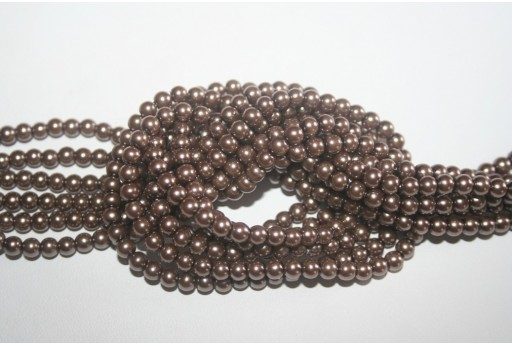 Glass Beads Light Brown 4mm - Filo 100pz