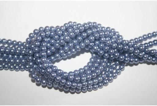 Glass Beads Dusty Blue 4mm - Filo 100pz