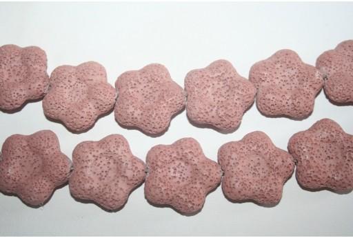 Pietre Lava Rosa Fiore 27x28mm - 2pz