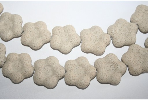 Pietre Lava Beige Fiore 27x28mm - 2pz