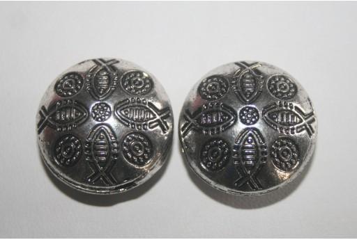 Componente Argento Tibetano Pasticcona 23mm